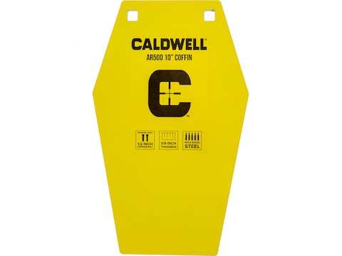 "Caldwell 10"" Coffin 3/8"" AR500 Steel Target"