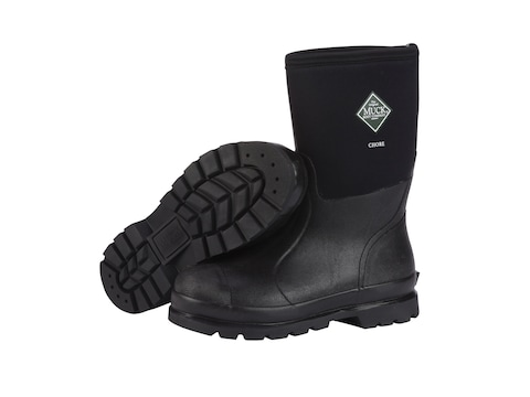 """Muck Chore Mid 12"""" Work Boots Rubber and Nylon Black Men's"""