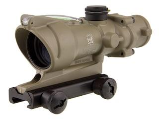 Trijicon ACOG TA31-D Rifle Scope 4x 32mm Dual-Illuminated Green Chevron 223 Remington Reticle with TA51 Flattop Mount Cerakote Flat Dark Earth