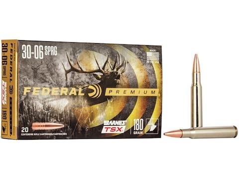 Federal Premium Ammunition 30-06 Springfield 180 Grain Barnes TSX Box of 20