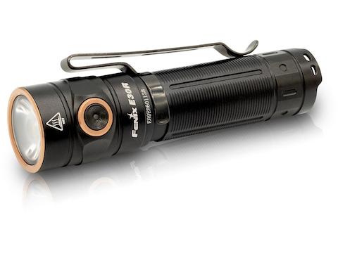 Fenix E30R Flashlight LED with 18650 Rechargeable Battery Aluminum Black