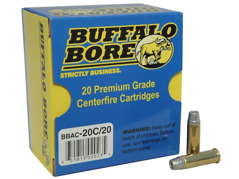 Buffalo Bore Ammunition 38 Special 158 Grain Lead Semi-Wadcutter Hollow Point Box of 20
