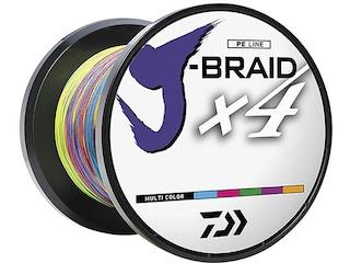 Daiwa J-Braid X4 Braided Fishing Line 10lb 330yd Multi-Color