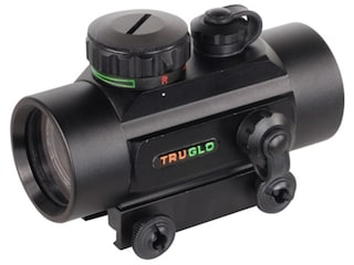 TRUGLO Red Dot Sight 30mm Tube 1x 5 MOA Red and Green Dot Reticle with Integral Weaver-Style Base Matte