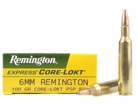 Remington Express Ammunition 6mm Remington 100 Grain Core-Lokt Pointed Soft Point Box o...