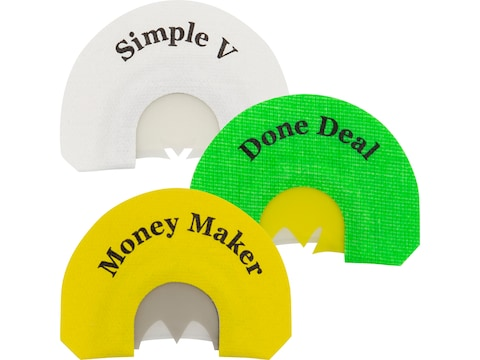 Rolling Thunder Game Calls Classic Diaphragm Turkey Call Pack of 3