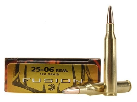 Federal Fusion Ammunition 25-06 Remington 120 Grain Bonded Spitzer Boat Tail