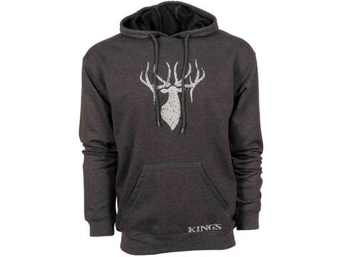 King's Camo Men's Logo Hoodie Fleece Poly/Cotton/Rayon Tri-Blend