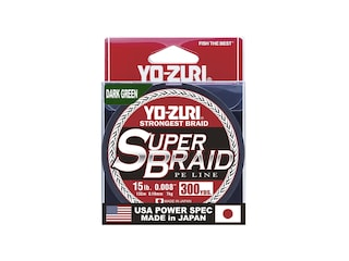 Yo-Zuri Superbraid Braided Fishing Line 15lb 300yd Dark Green