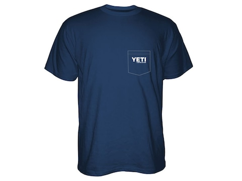 YETI Men's Built for the Wild Pocket T-Shirt Short Sleeve Cotton and Polyester Navy