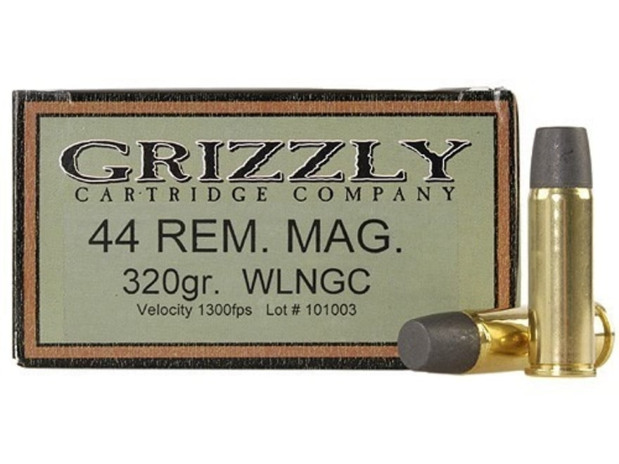 Grizzly Ammo 44 Remington Mag 320 Grain Cast Performance Lead Wide
