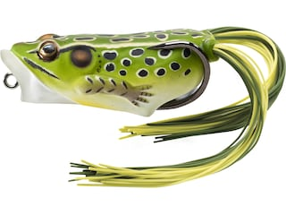 """LIVETARGET Hollow Body Frog Popper 2"""" Topwater Green/Yellow"""