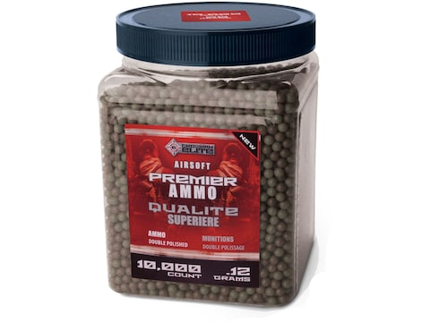 Game Face Premier 6mm Airsoft BB .12 Gram Camo Pack of 10,000