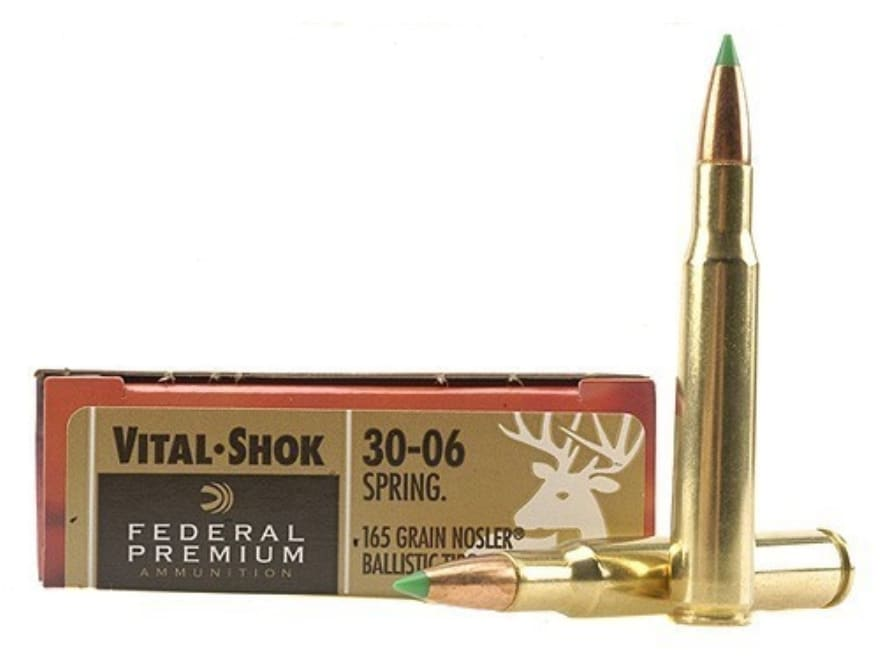 Federal Premium Vital-Shok Ammo 30-06 Springfield 165 Grain Nosler