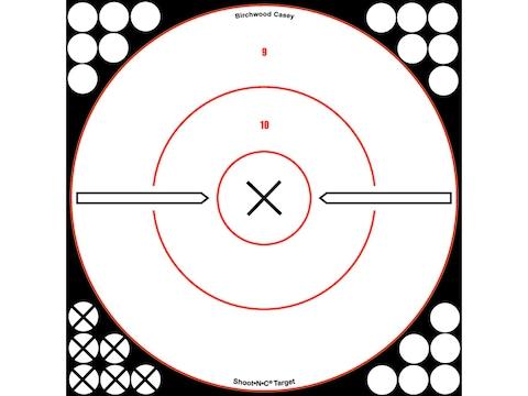 """Birchwood Casey Shoot-N-C White/Black 12"""" X Bullseye Reactive Targets Package of 5"""