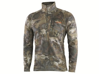 Sitka Gear Men's Grinder Heavyweight 1/2 Zip Pullover Polyester Optifade Waterfowl Timber Camo Large