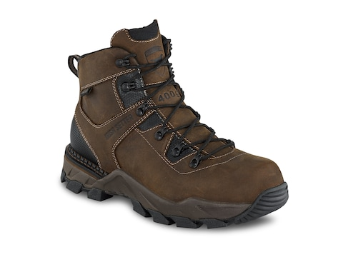 "Irish Setter Crosby 6"" Non-Metallic Safety Toe 400 Gram Insulated Work Boots Leather Men's"