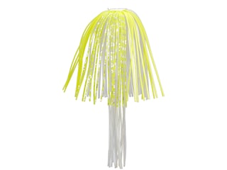 Strike King Perfect Skirt w/Magic Tails Chartreuse White