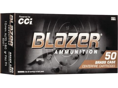 Blazer Brass Ammunition 10mm Auto 180 Grain Full Metal Jacket - Blemished