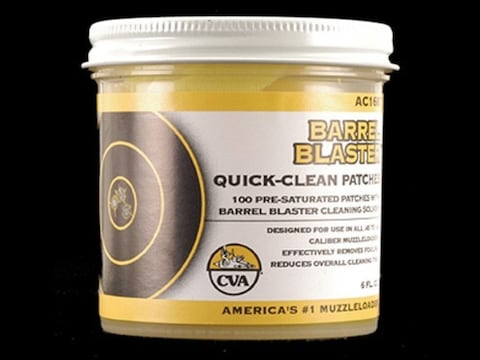 CVA Barrel Blaster Quick Clean Black Powder Cotton Cleaning Patches