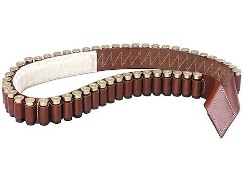 Triple K 208 12 Gauge Shotgun Bandolier Leather Walnut Oil