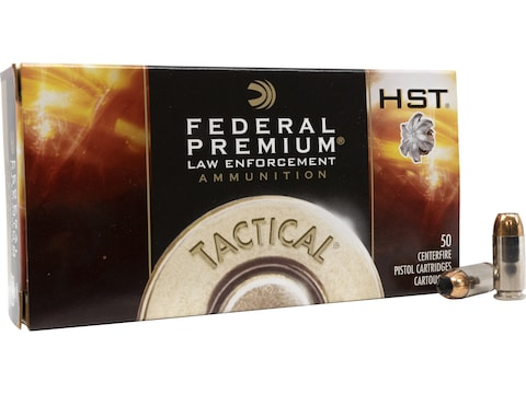 Federal Premium Law Enforcement Ammunition 40 S&W 180 Grain HST Jacketed Hollow Point B...