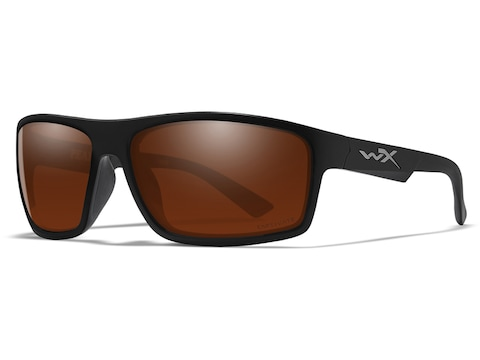 Wiley X WX Peak Polarized Sunglasses Matte Black Frame/Captivate Copper Lens