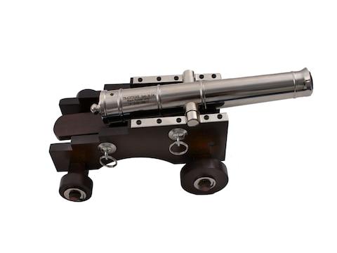 "Traditions Mini Old Ironsides Black Powder Cannon 50 Caliber 9"" Nickel Plated Barrel Ha..."