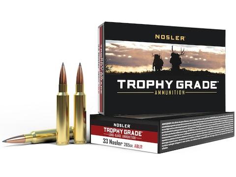Nosler Trophy Grade Ammunition 33 Nosler 265 Grain AccuBond Long Range Box of 20