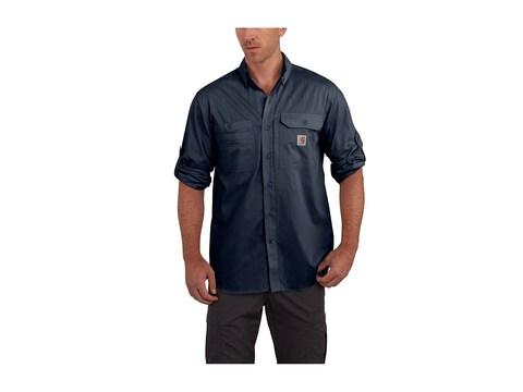 Carhartt Men's Force Ridgefield Button-Up Long Sleeve Shirt Polyester/Cotton