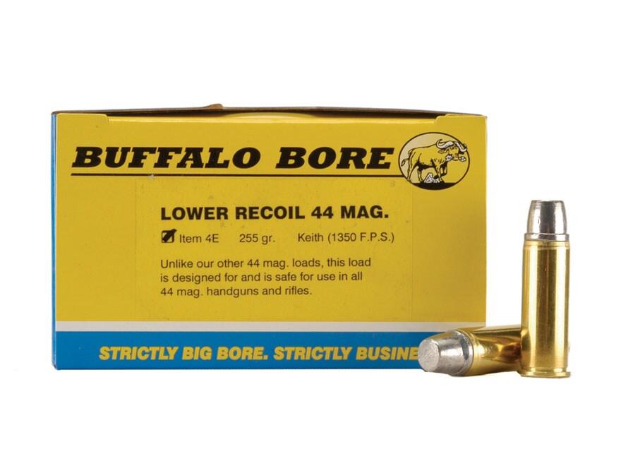 Buffalo Bore Ammo 44 Remington Mag 255 Grain Lead Semi-Wadcutter Gas