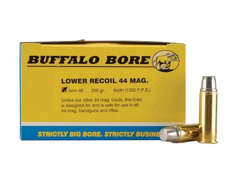 Buffalo Bore Ammunition 44 Remington Magnum 255 Grain Lead Semi-Wadcutter Gas Check Box...