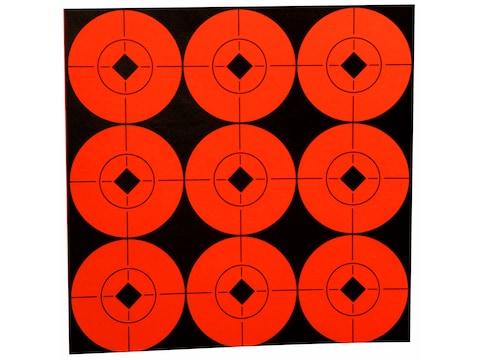 "Birchwood Casey Target Spots 2"" Fluorescent Red Pack of 90"