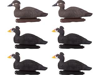 GHG Pro-Grade Foam Filled Surf Scoter Duck Decoy Pack of 6