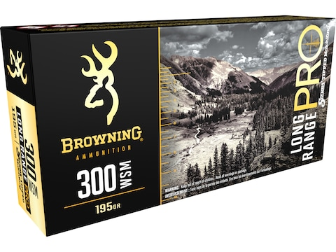 Browning Long Range Pro Match Ammunition 300 Winchester Short Magnum (WSM) 195 Grain Si...