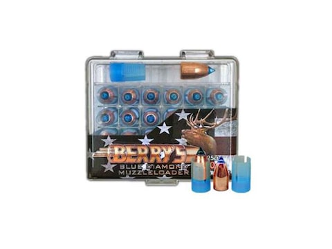 Berry's Blue Diamond Muzzleloading Bullets 50 Caliber Sabot with 45 Caliber Polymer Tip...