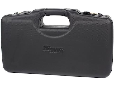 Negrini Sig Sauer Single Handgun Case for P320, P226, P229, P220, & M17 with Leather Tr...