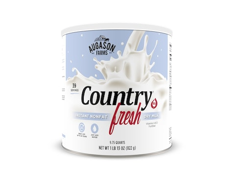 Augason Farms Country Fresh 100% Real Instant Nonfat Dry Milk 1 lb