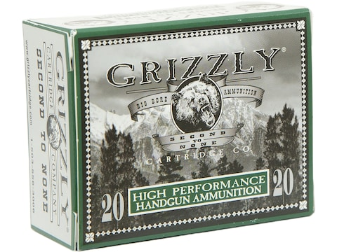 Grizzly Ammunition 9mm Luger 124 Grain Jacketed Hollow Point Box of 20