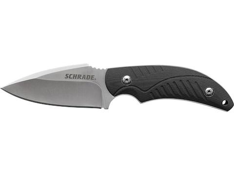 "Schrade SCHF66 Fixed Blade Knife 3"" Clip Point 7Cr17MoV Stainless Steel Blade TPR Handl..."