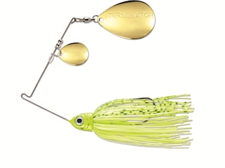 Terminator Pro Series Double Colorado Spinnerbait 3/8oz Dirty Chartreuse Shad Gold