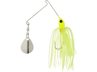 Strike King Micro-King Single Colorado Spinnerbait 1/16oz Chartreuse Head Chartreuse Skirt Nickel