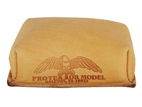 Protektor Small Brick Rear Shooting Rest Bag Leather Tan Filled