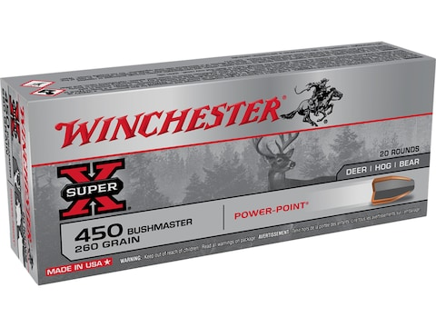 Winchester Super-X Ammunition 450 Bushmaster 260 Grain Power-Point