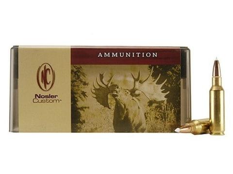 Nosler Custom Ammunition 300 Remington Short Action Ultra Magnum 180 Grain AccuBond Spi...