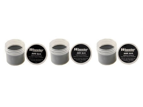 Wheeler Lapping Compound Kit (1 oz each of 220, 320, 600 Grit Compound)