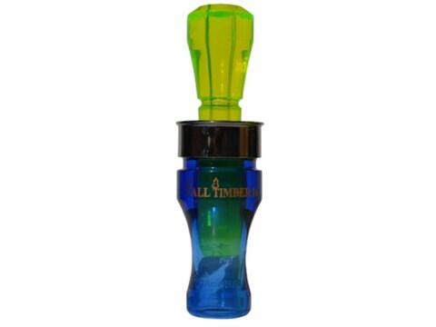 Buck Gardner Tall Timber II Polycarbonate Duck Call Blue/Fluorescent Green