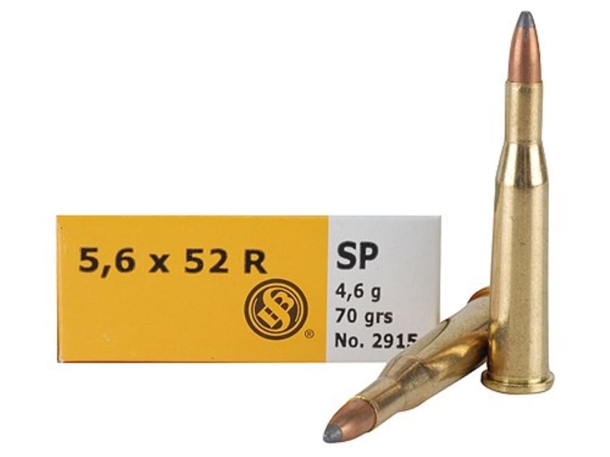 Sellier & Bellot Ammo 5.6x52mm Rimmed (22 Savage High-Power) 70 Grain