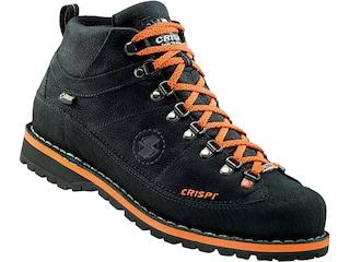 "Crispi Monaco Premium GTX 6"" Hiking Boots Leather Black/Orange Men's 8 D"