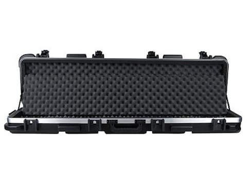 """SKB ATA 5009 Double Scoped Rifle Gun Case with Wheels for Guns up to 50"""" Polymer Black"""